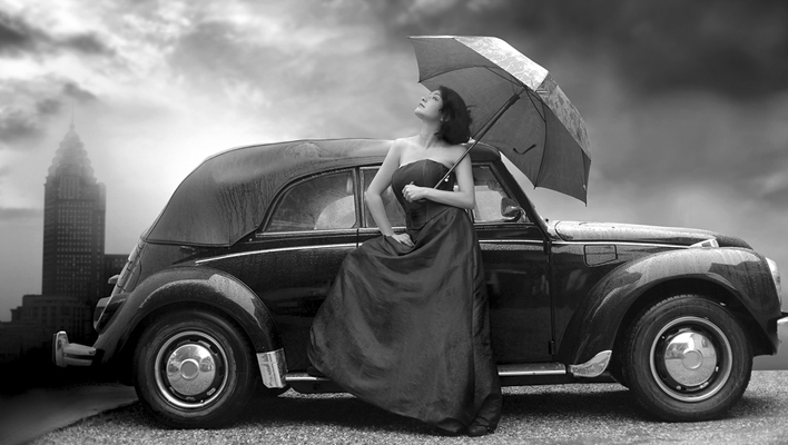 Lady and Car