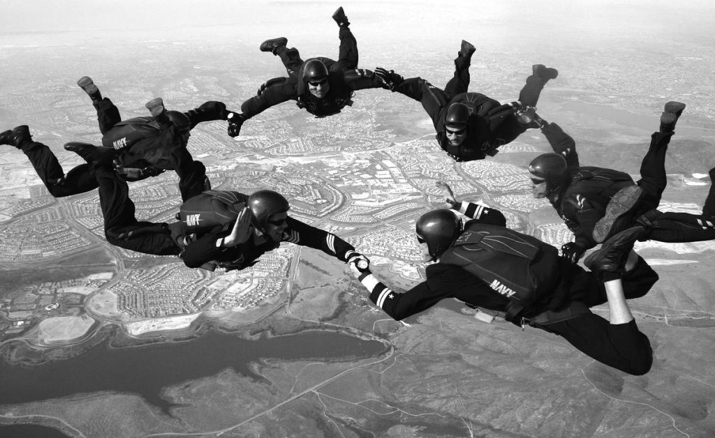 Airborne coaching and peer-ro-peer support group. Thanks to David Mark for the photograph.